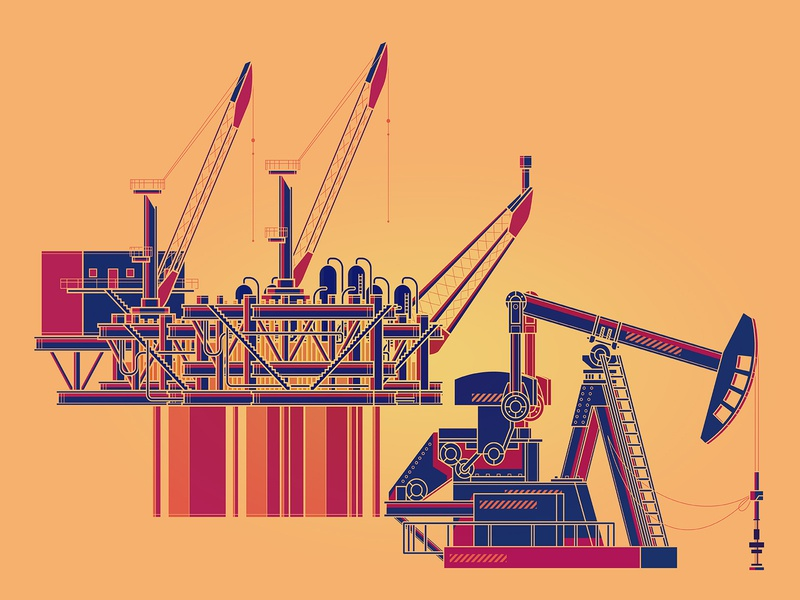 OIL! oil vector design illustration