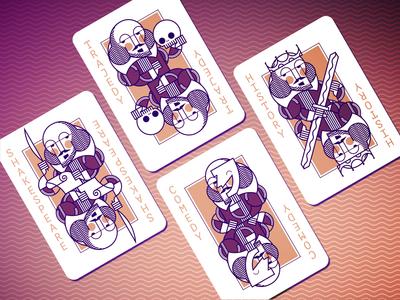 Shakespeare Cards design vector illustration