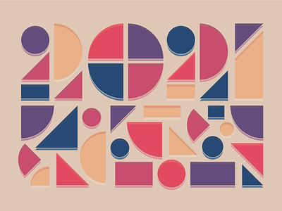 2021 2021 flat vector design illustration
