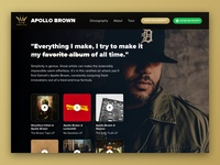 Apollo Brown Mello Music Group Landing Page – Daily UI 003