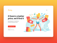 Landing page design for Sunny