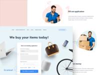 Website design concept for Strakksalg