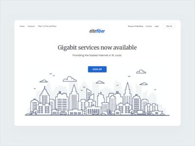Webdesign concept for internet provider