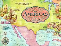 America Illustrated Map