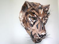 Paper Jaguar Mask