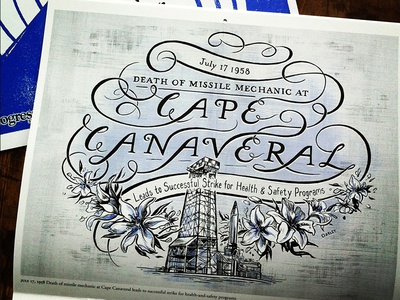 Cape Canaveral Lettering