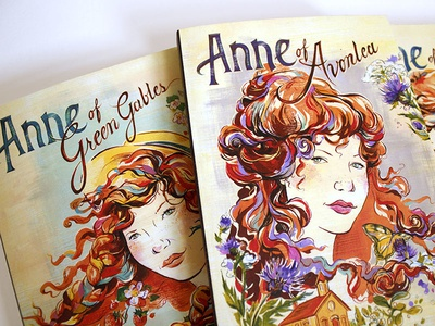 Anne of Green Gables  illustration books book covers book art design lettering hand lettering hair girls anne of green gables montgomery