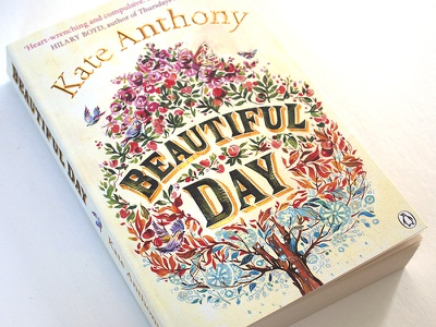 Beautiful Day Book Cover illustration books book covers book art design lettering hand lettering tree flowers seasons penguin