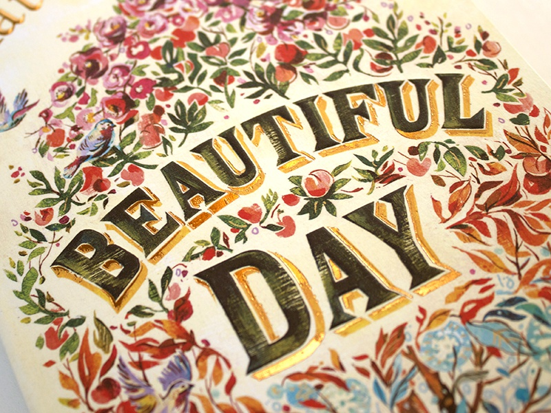 Beautiful Cover Of Book : Beautiful day book cover lettering by jacqui oakley