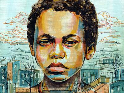 Nas' Illmatic Album illustration painting portrait hip hop rap nas boy architecture music cover illmatic nyc