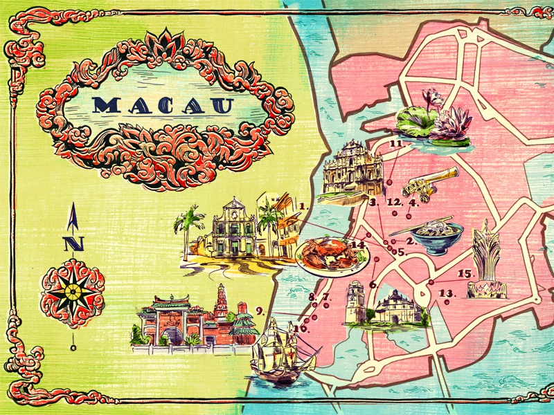Map Of Macau China By Jacqui Oakley Dribbble Dribbble