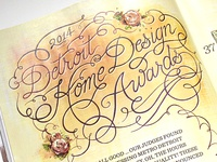 Design Awards Lettering