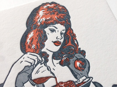 Saucy Pin Up - Greetings from Canada