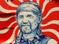 Willie for President! STAG Austin Mural