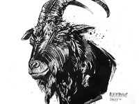 Inktober: Black Phillip / The Witch