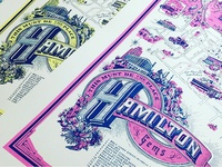 Hamilton Gems Silkscreened Map