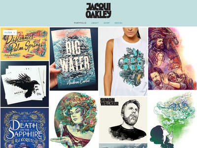 Updated Site! design t-shirt advertising editorial book covers animals typography lettering portraits illustration site website
