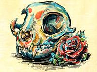Day of the Dead - Cat Skull Altar
