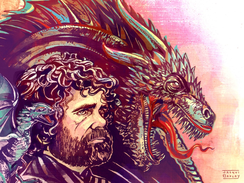 Tyrion, Game of Thrones portraits tv entertainment fantasy dragon tyrion tyrion lannister game of thrones got editorial art illustration