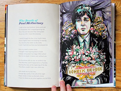 A Circus Mind: PAUL IS DEAD illustration illustrations paul mccartney death dead conspiracy beatles portrait paint painting process circus mind book books music