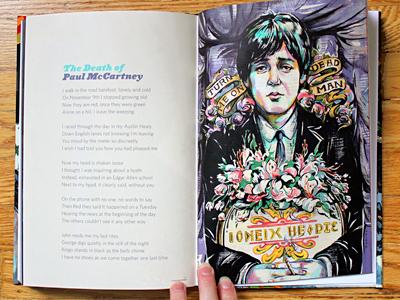 A Circus Mind: PAUL IS DEAD illustration illustrations paul mccartney death dead conspiracy beatles portrait paint painting process circus mind book books music