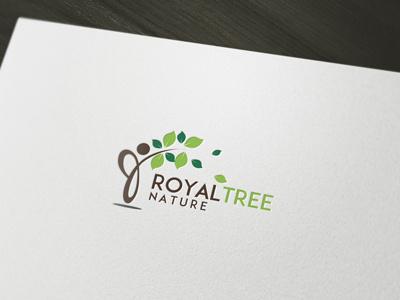 Royal Tree Logo tree nature leaf green design
