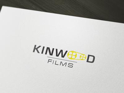 Kinwood logo design typography films