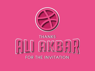 Invitation dribble invite ball typography