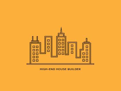 House Builders logo building illustration