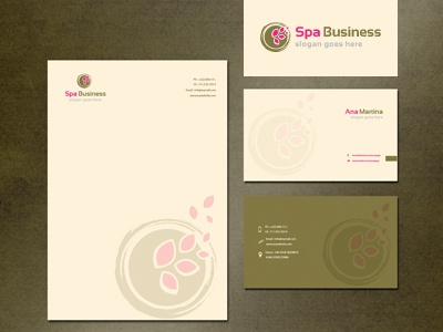 Spa Business stationery branding logo template design