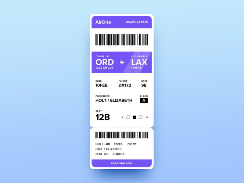 AirOne Boarding Pass