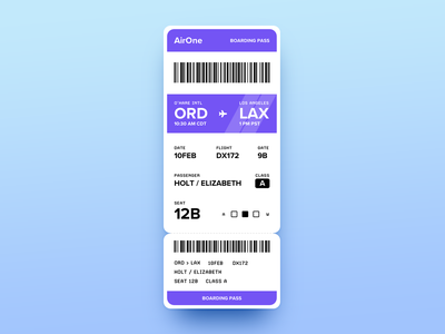 AirOne Boarding Pass colorful graphic design zillasdesignchallenge designzillas flight ticket boarding pass