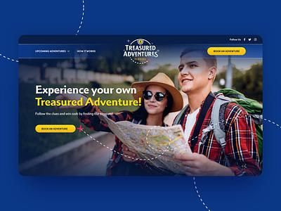 Treasured Adventures Florida hunt logo website designzillas branding treasure adventure web design