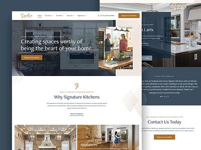 Signature Kitchens luxury design appliances bathroom web design luxury kitchen website