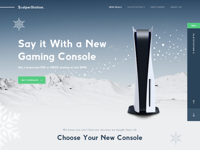 ScalperStation - Mockthehalls 2020 winter designzillas holidays christmas xbox playstation videogames website design mockthehalls