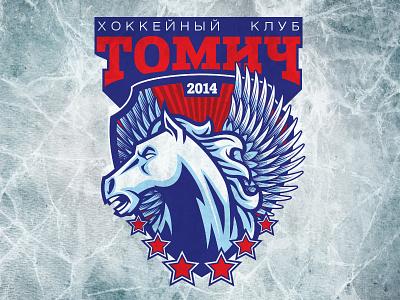 hockey club Tomich vector sport tomsk brand logotype logo hockey