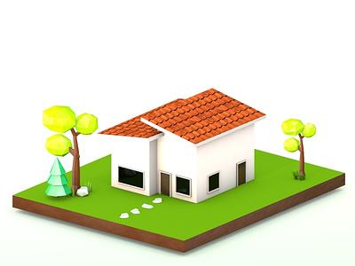 Isometric Modern House designer architecture 3d artist design illustration cinema 4d 3d modelling 3d art
