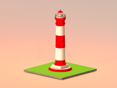 Alleppey Lighthouse kerala landmarks keralatourism lighthouse design happy daily life designer architecture modeling 3d artist cinema 4d 3d modelling 3d art