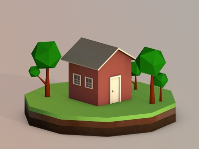Low Poly Hexa House design daily life cinema 4d 3d artist creative art lowpoly house 3d modelling modeling 3d 3d art