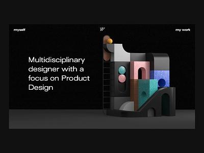 Portfolio Landing Page branding 3d animation product design web design freebie webflow landing page interaction website cinema 4d c4d