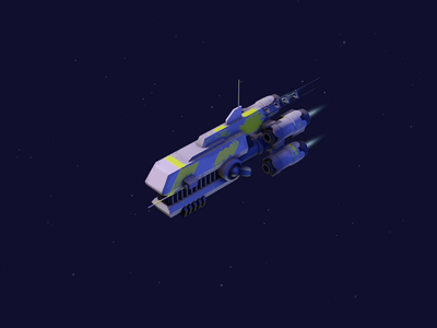 Spaceship manoeuvre manoeuvre warship space isometric low-poly 3d cinema 4d c4d low poly