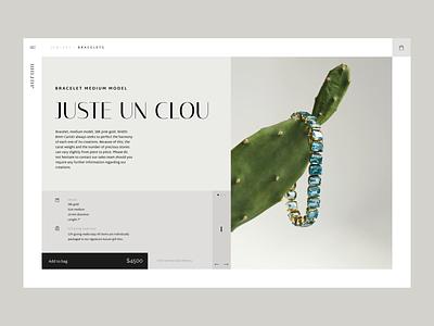 Jewellery Store jewllery animation minimal ux ui ecommerce interaction animation interaction webdesign