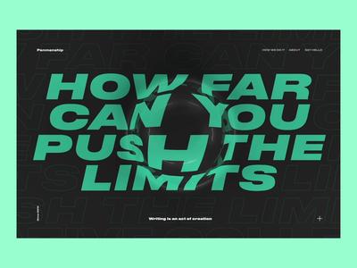 Push Your Limits web design webgl interaction ui animation website cinema 4d c4d