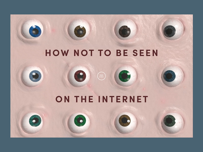 How not to be seen on the Internet key visual web design interaction illustration animation website 3d cinema 4d c4d