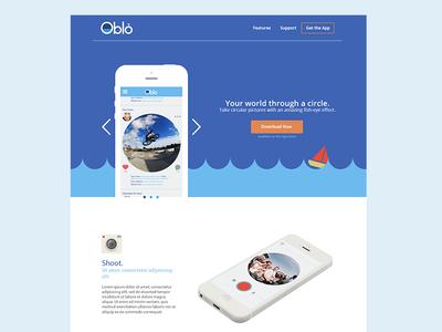 Oblò flat ui design web minimal simple clean oblo concept app