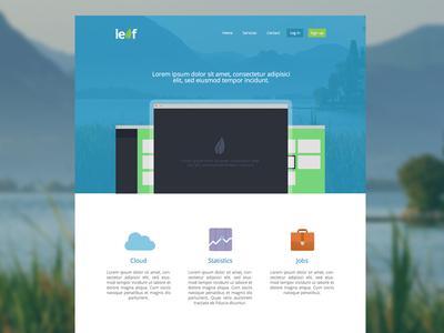 Leaf flat ui design web minimal simple clean leaf concept app
