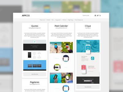 AppCSS flat clean minimal showcase appcss app css sites application
