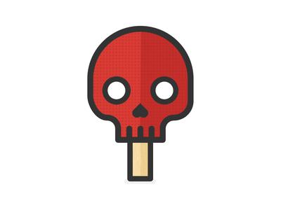 Skull Pong sport logo minimal illustration icon table tennis pong ping pong skull