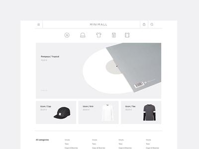 Minimall #01 | Homepage clothing clothes icon white minimal shop ecommerce minimall