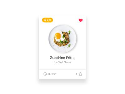 Recipics #01 | Card Detail card recipes food minimal
